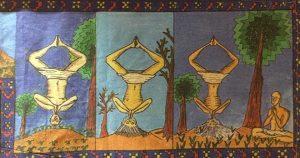 sadhu in headstand