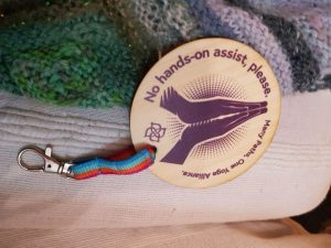 Consent chip with lanyard