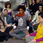 Occupy Wall Street meditation protest