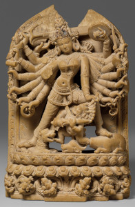 The-Goddess-Durga-Killing-the-Buffalo-Demon-(Mahishasura-Mardini)---12-Century-Pala-Period-Sculpture,-Eastern-India