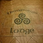 Newgrange Lodge sign
