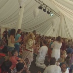 Ritual puja at Colourfest